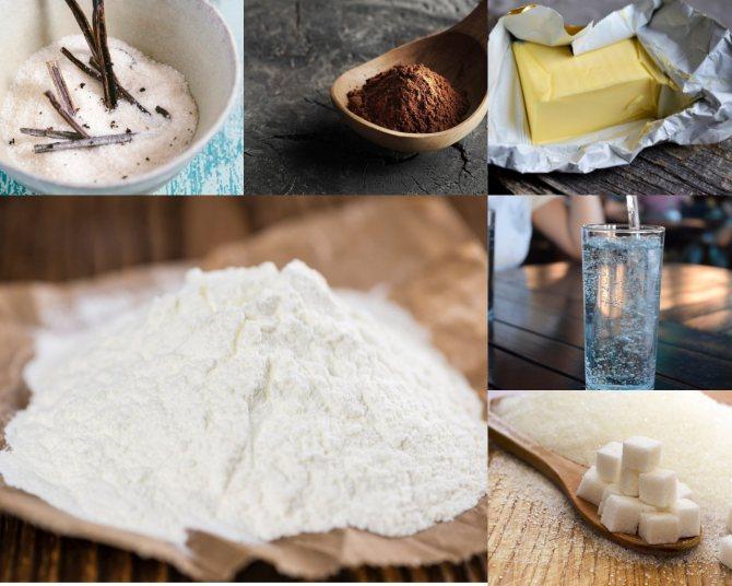 Ингредиенты для шоколадной пасты с сухим молоком