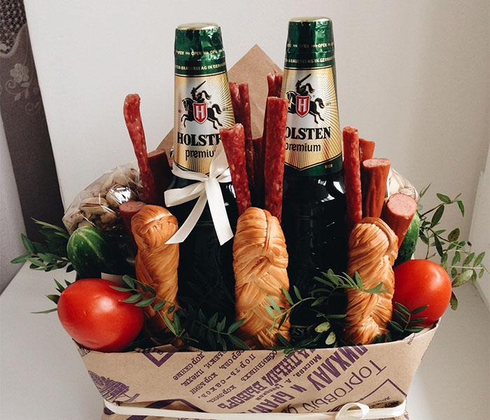 Подарок мужу своими руками из пива и рыбы фото