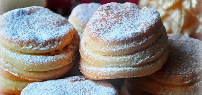 Печенье с творогом слоеное