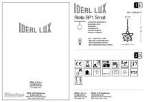 Ideal Lux STELLA SP1 SMALL BRUNITO (144290) 2