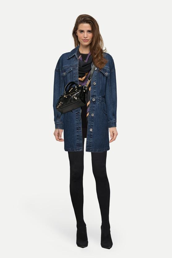 Черная женская джинсовка