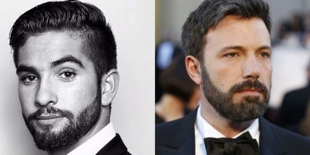 голливудская борода черная не густая