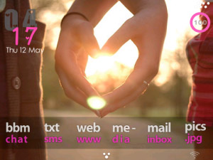 Pink theme for blackberry 9780
