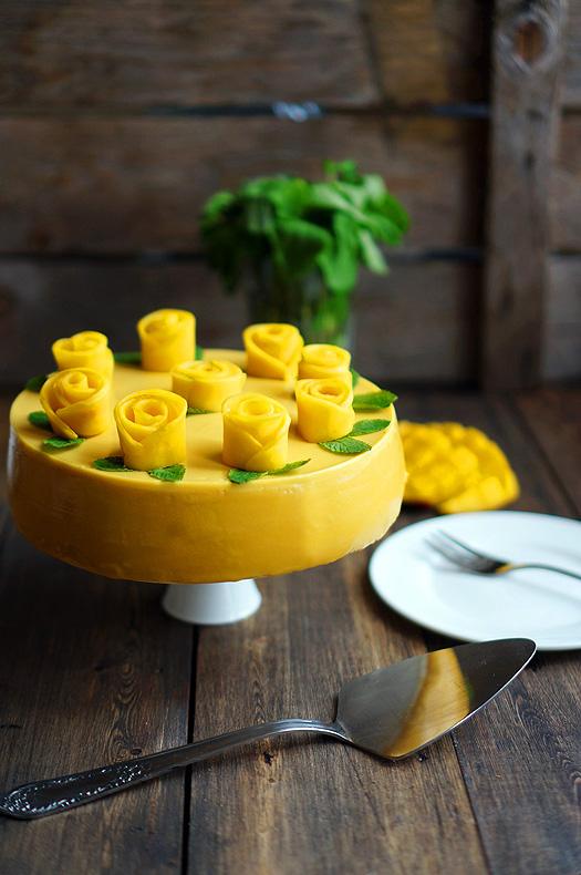 Торт мусс манговый
