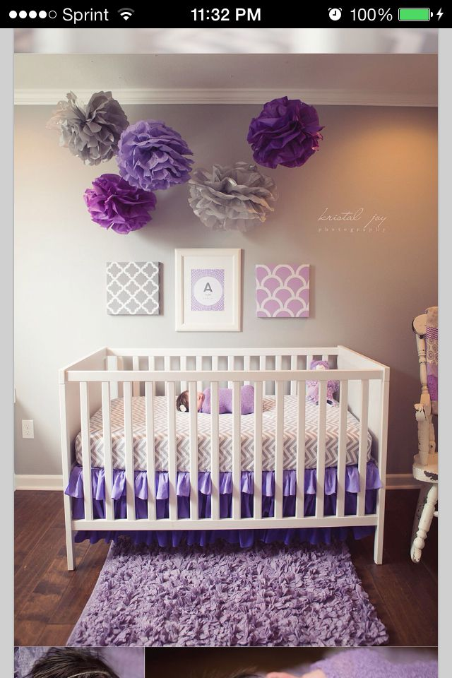 Pink and purple baby room ideas