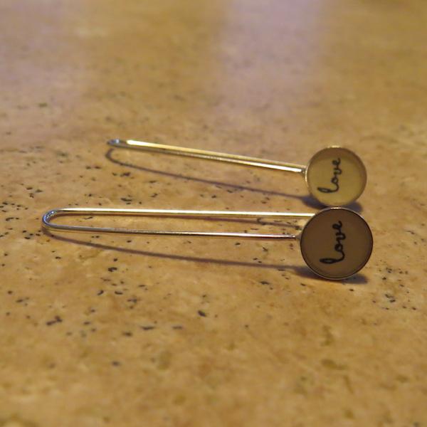 Love drop earrings.
