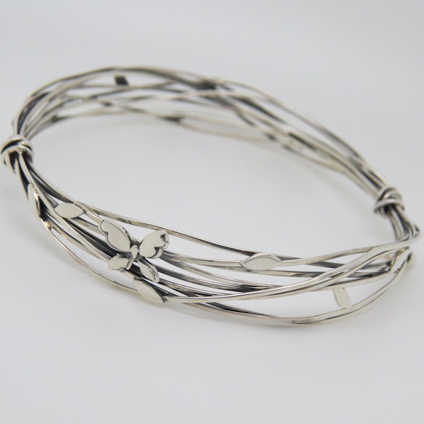 Entwined butterfly bangle