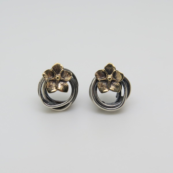 entwined flower stud