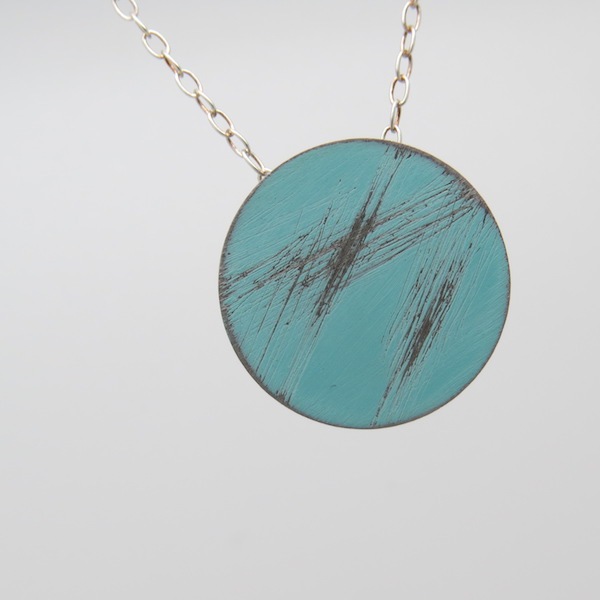light blue mini buoy necklace
