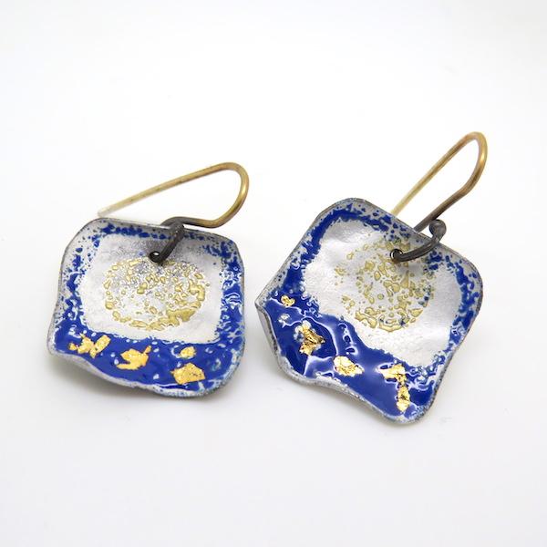 Carmen blue and gold earrings