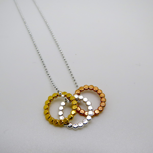 trio dot necklaces