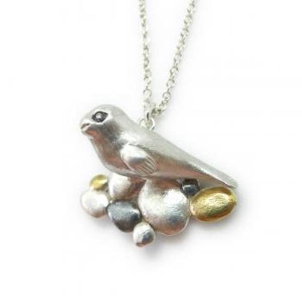 seal on pebbles Necklace.