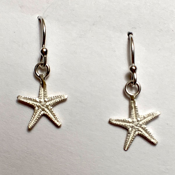 Starfish drop earrings