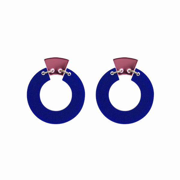 petite shift hoop blue pink