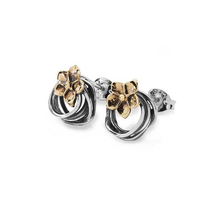 entwined stud earring
