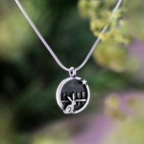 rabbit circle pendant