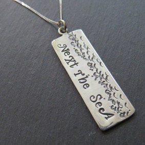 wide next the sea tag necklace