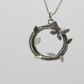 Entwined butterfly necklace.