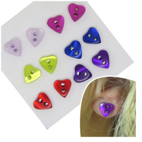 heart button studs