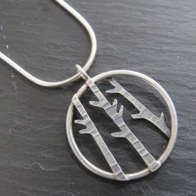 3 birch pendant