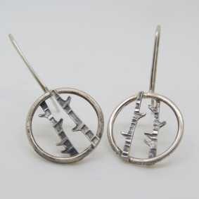 birch drop earrings