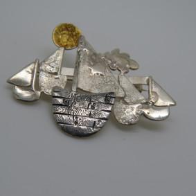 Boat brooch.