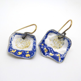 Carmen blue and gold earrings