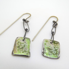 Carmen square dangler earrings