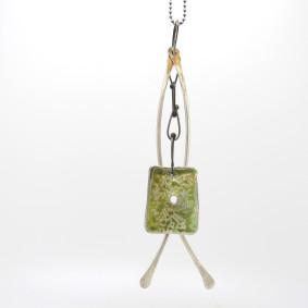 Carmen square dangler pendant.