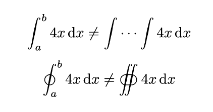 LatexMathIntegrals