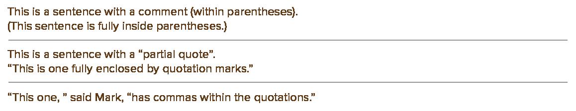 TypographyCharactersEndingSentences