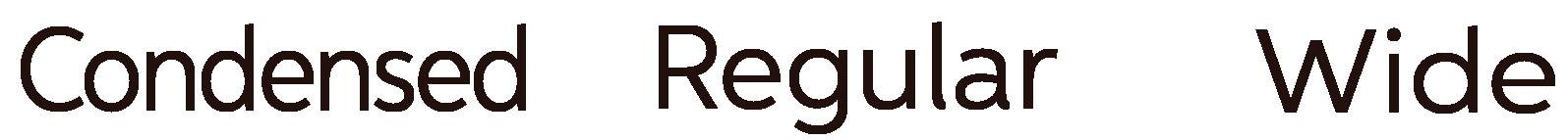 TypographyStylesCondensedWide