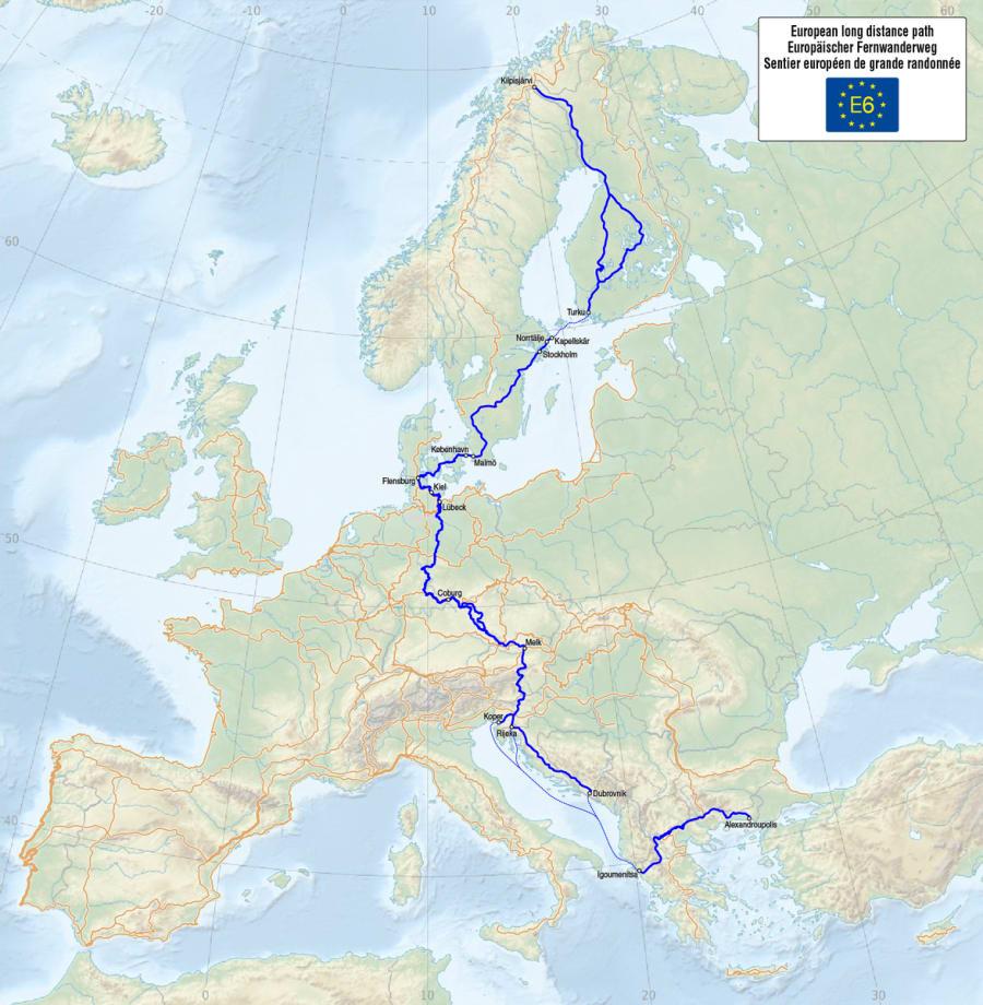 E6 - European Long Distance Path