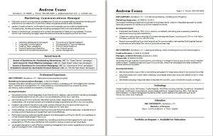 Marketing Communications Manager: Resume Example