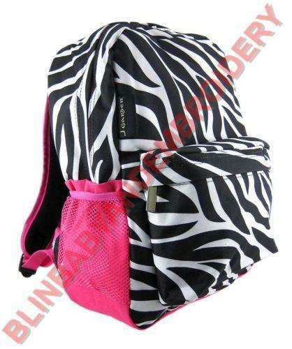 Pink zebra print book bag