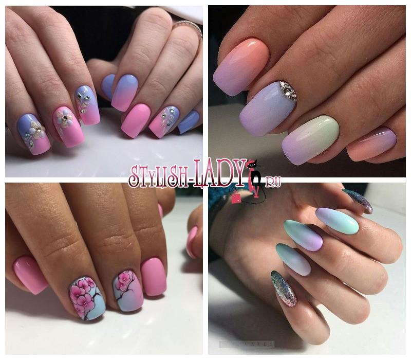 Растяжка дизайн на ногтях