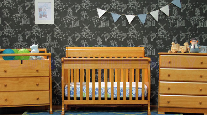 DaVinci Kalani Honey Oak Crib and Nursery Furniture Set