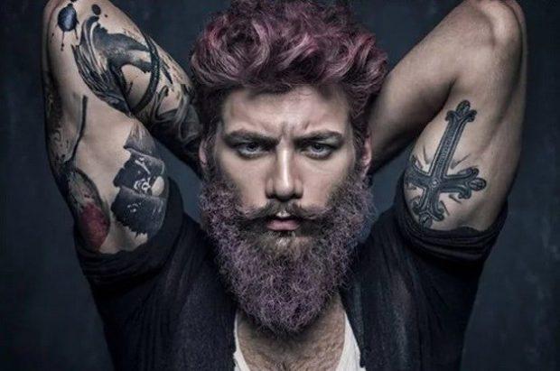 борода скайрим фиолетовая