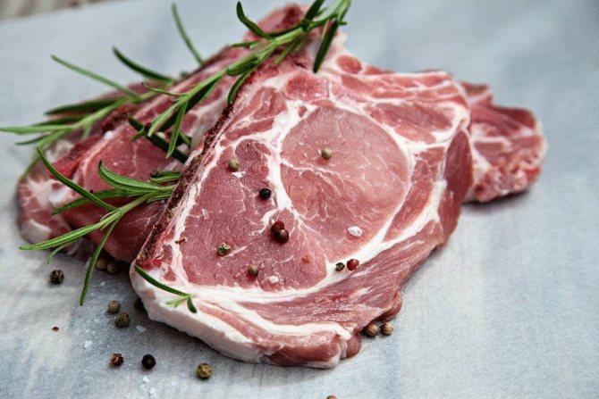 Сколько калорий в куске свинины