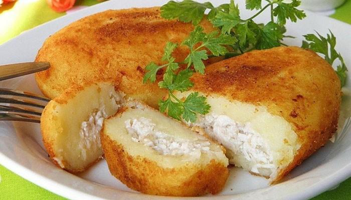 Картофельные зразы с фаршем рецепт с фото в духовке