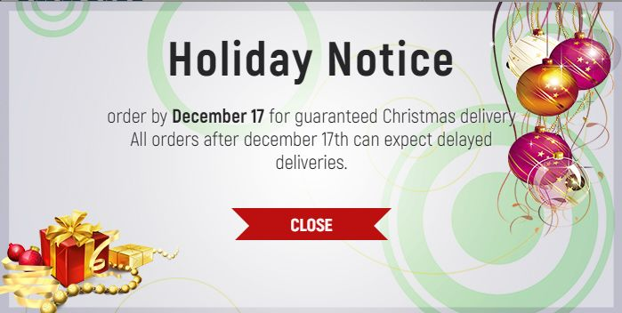 Holiday notice & effects