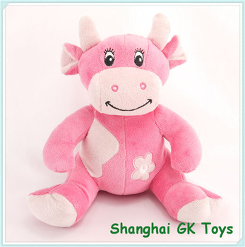 Pink cow stuffed animal