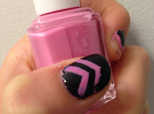 Chevron nails without scissors