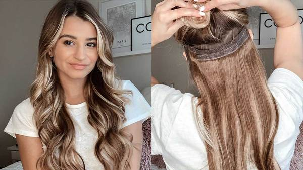 Celebrities hair extensions