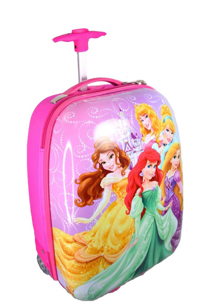Disney princess hard shell rolling luggage - pink