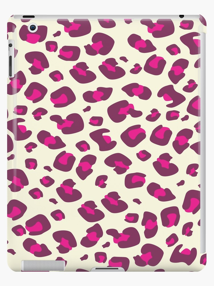 Pink leopard print ipad case