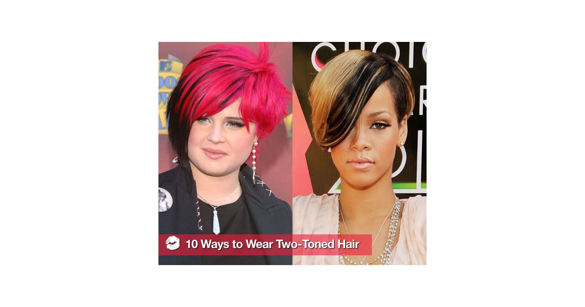 Celebrities with two toned hair
