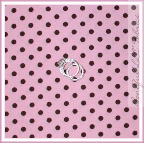 Polka dots pink brown