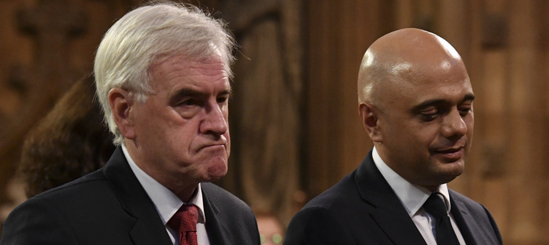 Shadow Chancellor John McDonnell and Chancellor Sajid Javid