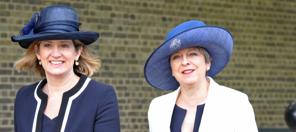 Amber Rudd and Theresa May